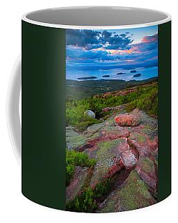 Sunset At Cadillac Mountain Coffee Mug