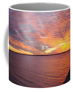 Sunset At Cafe Coconut Cove 2 Coffee Mug by Kay Gilley