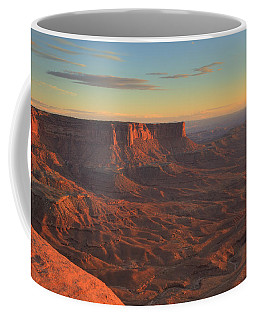 Coffee Mug featuring the photograph Sunset At Canyonlands by Alan Vance Ley