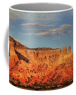 Coffee Mug featuring the photograph Sunset At Ghost Ranch by Alan Vance Ley