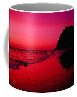 Sunset At Neskowin Beach- Proposal Rock Coffee Mug