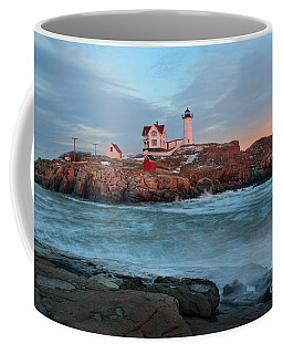 Sunset At Nubble Lighthouse Coffee Mug