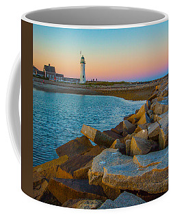Sunset At Old Scituate Lighthouse Coffee Mug