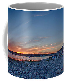 Sunset At Scituate Light Coffee Mug