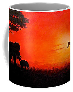 Sunset At Serengeti Coffee Mug