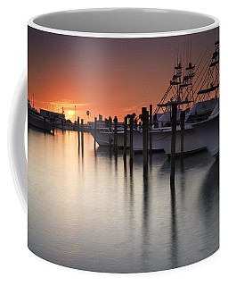 Sunset At The Pelican Yacht Club Coffee Mug