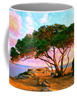 Sunset At The Wedge In Newport Beach Coffee Mug