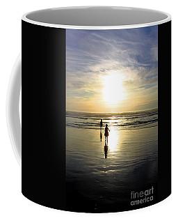 Coffee Mug featuring the photograph Sunset Beach Combers by Nick Gustafson