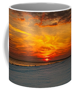 Coffee Mug featuring the photograph Sunset Beach New York by Chris Lord