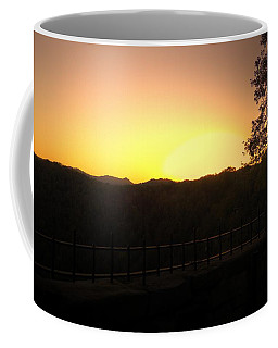 Coffee Mug featuring the photograph Sunset Behind Hills by Jonny D