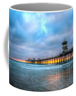 Sunset Beneath The Pier Coffee Mug