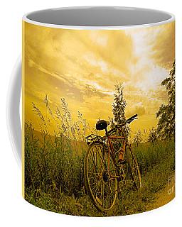 Sunset Biking Coffee Mug