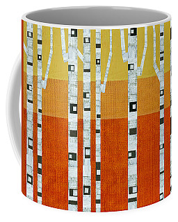 Sunset Birches Coffee Mug