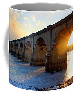 Sunset Bridge Coffee Mug by Joseph Skompski