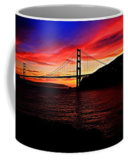 Coffee Mug featuring the photograph Sunset By The Bay by Dave Files