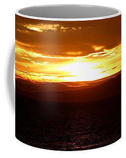 Sunset By The Fjord Coffee Mug