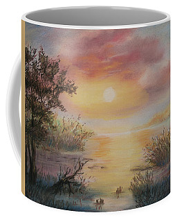 Sunset By The Lake Coffee Mug