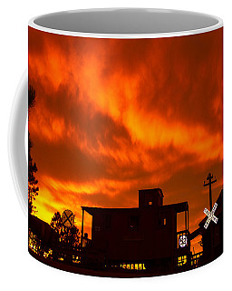 Sunset Caboose Coffee Mug