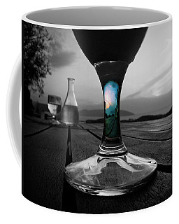 Sunset Cafe Coffee Mug by Micki Findlay
