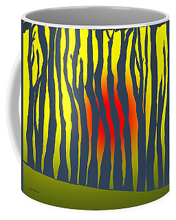 Sunset Deep In The Forest Coffee Mug