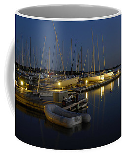 Sunset Dock Coffee Mug by Charles Beeler