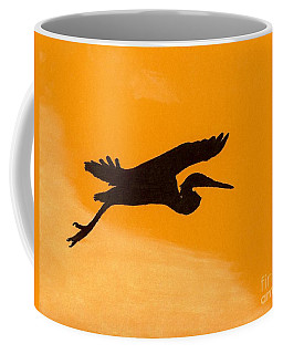 Coffee Mug featuring the drawing Sunset Flight by D Hackett