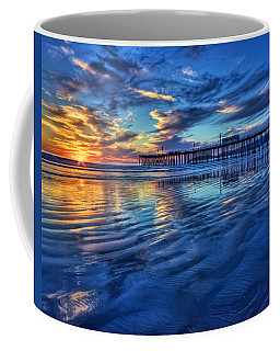 Coffee Mug featuring the photograph Sunset In Blue by Beth Sargent