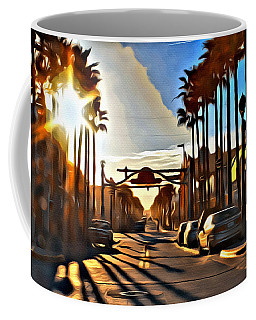 Sunset In Daytona Beach Coffee Mug by Alice Gipson