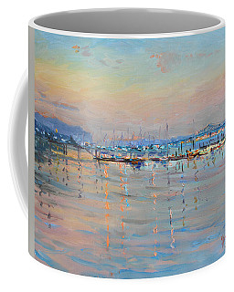 Sunset In Piermont Harbor Ny Coffee Mug