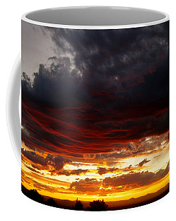 Sunset In Red Coffee Mug