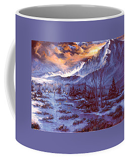 Sunset Indian Village Coffee Mug by Donna Tucker