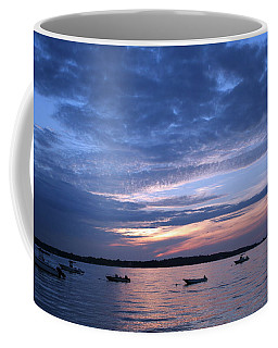 Coffee Mug featuring the photograph Sunset by Karen Silvestri