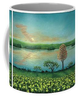 Sunset Lake Triptych Coffee Mug