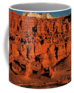 Sunset Light Turns The Hoodoos Blood Red In Goblin Valley State Park Utah Coffee Mug