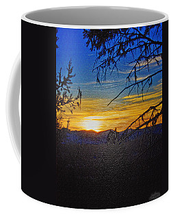 Coffee Mug featuring the photograph Sunset Mountain To Mountain by Janie Johnson