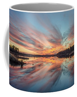 Coffee Mug featuring the photograph Sunset Of Fire by Beth Sawickie