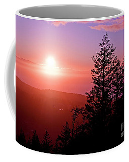 Sunset Off Mt Erie Washington Art Prints Coffee Mug by Valerie Garner
