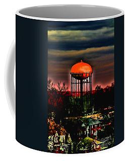 Sunset On A Charlotte Water Tower By Diana Sainz Coffee Mug