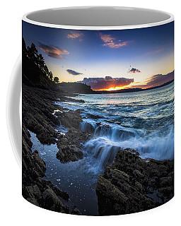 Sunset On Ber Beach Galicia Spain Coffee Mug