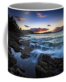 Coffee Mug featuring the photograph Sunset On Ber Beach Galicia Spain by Pablo Avanzini