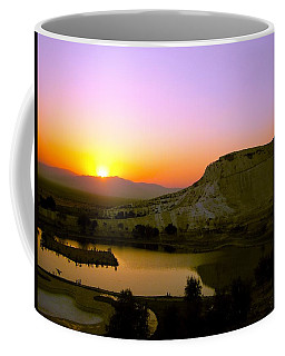 Coffee Mug featuring the photograph Sunset On Cotton Castles by Zafer Gurel