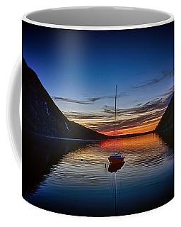 Sunset On Lake Willoughby Coffee Mug by John Haldane