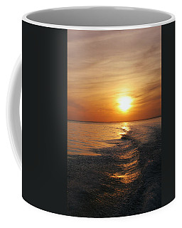 Coffee Mug featuring the photograph Sunset On Long Island Sound by Karen Silvestri