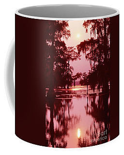 Coffee Mug featuring the photograph Sunset On The Bayou Atchafalaya Basin Louisiana by Dave Welling