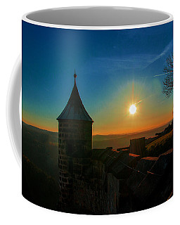 Sunset On The Fortress Koenigstein Coffee Mug