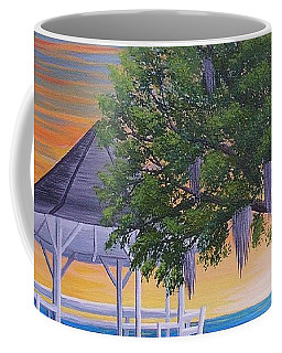 Sunset On The Gazeebo Coffee Mug