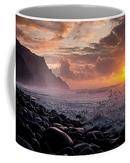 Sunset On The Kalalau Coffee Mug