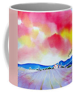 Sunset On The Lavender Farm  Coffee Mug