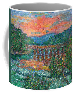 Coffee Mug featuring the painting Sunset On The New River by Kendall Kessler