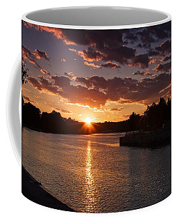 Coffee Mug featuring the photograph Sunset On The River by Dave Files